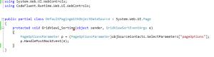 Corresponding aspx.cs code