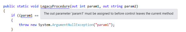 Output parameters are not handled