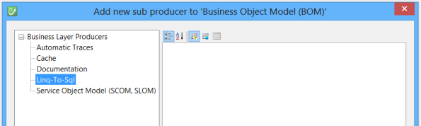 LINQ to SQL Sub-Producer