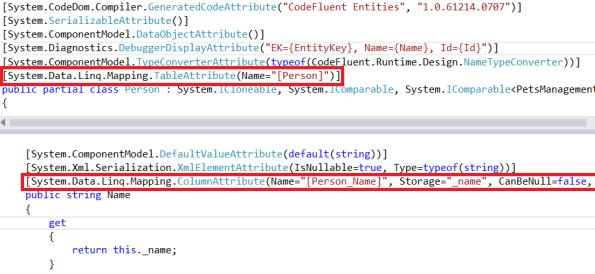 LINQ to SQL attributes