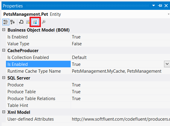 Enable Cache on an Entity