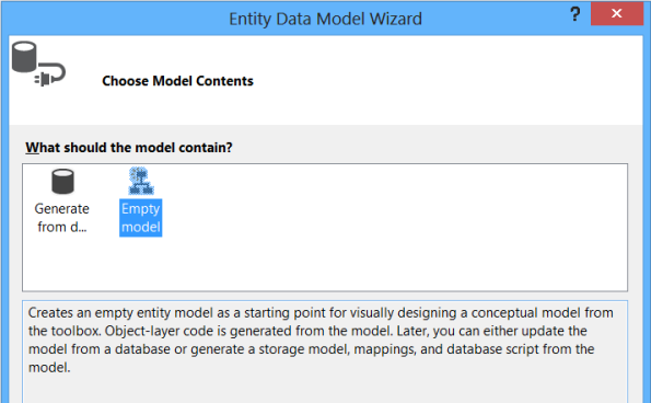 Empty Entity Model
