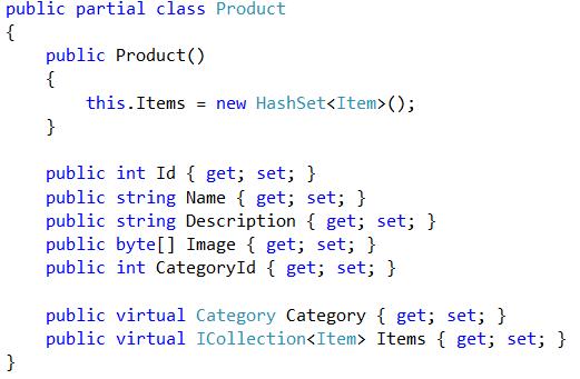 EF POCO class example