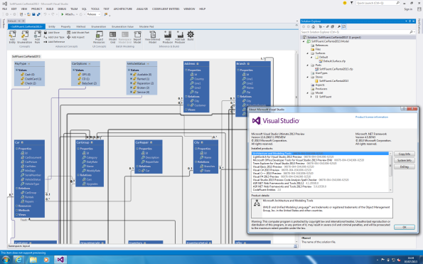 CodeFluent Entities and Visual Studio 2013 preview