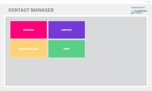 Contact Manager Tiles View