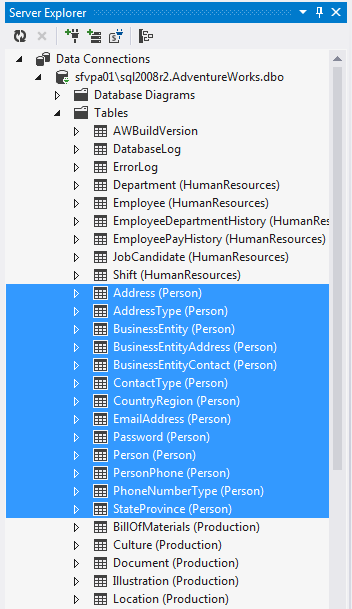 Server Explorer