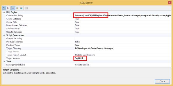 SQL Server Producer LocalDb