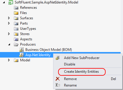 Create Identity Entities