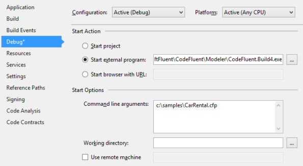 Producer Debugger Configuration