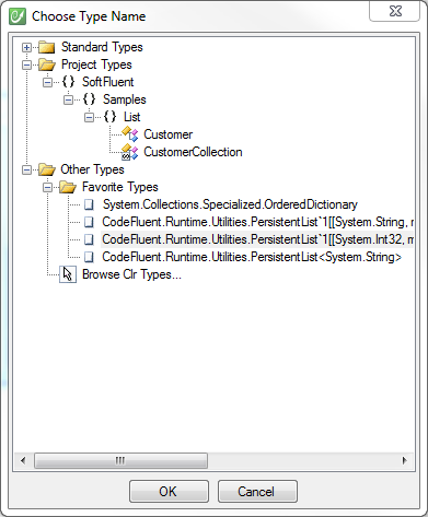 Persistent List Choose Type Name