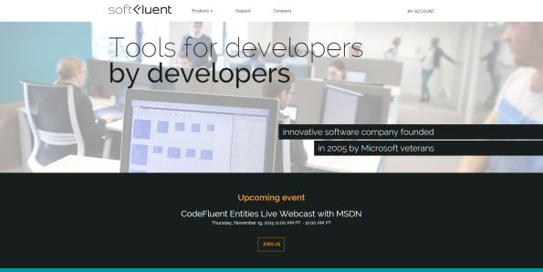 The SoftFluent website